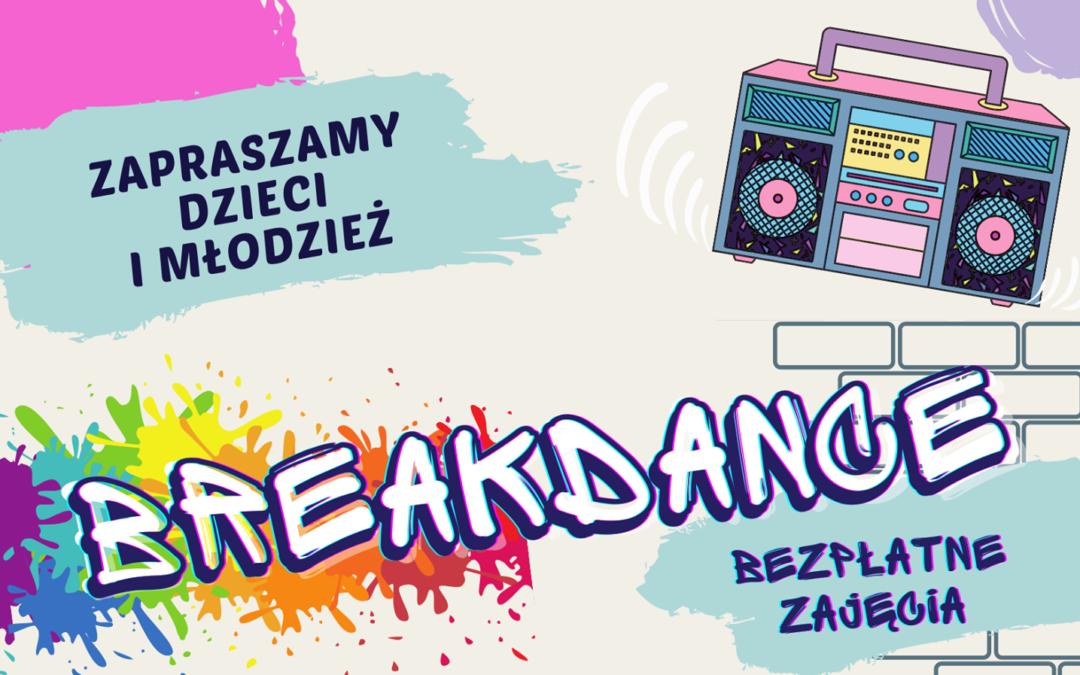 Bezpłatny breakdance dla dzieci i młodzieży
