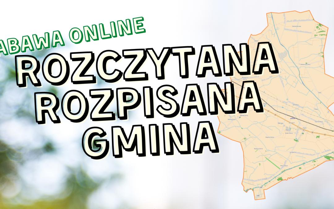 """""""Rozczytana, rozpisana Gmina"""" – listopadowa zabawa online!"""
