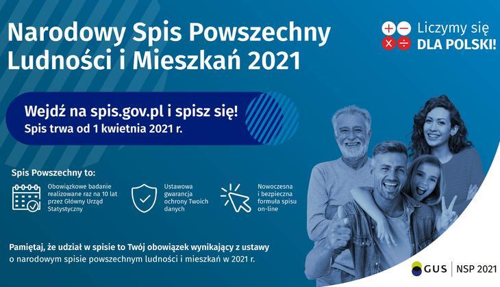 Do 30 września 2021 r. Główny Urząd Statystyczny przeprowadza Narodowy Spis Powszechny Ludności i Mieszkań