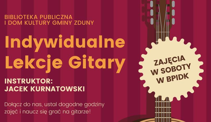 Indywidualne lekcje gitary/ukulele już od listopada! Zapraszamy!